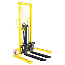 Using a Hand Forklift to Move Heavy Office Furniture During Office Renovation